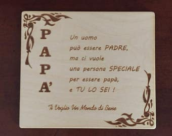 Gift Plaque Father's Day and birthday