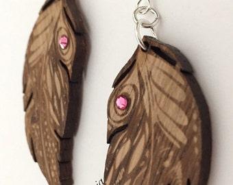 Earrings Women Feathers