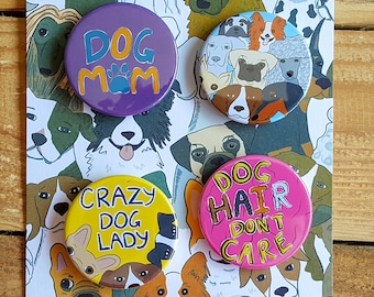 crazy dog lady funny birthday card badge card dog pin best etsy