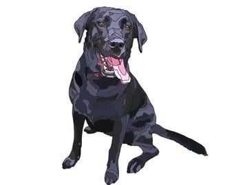 Custom Pet Portrait, Dog Mothers Day Gift, dog lover, Birthday Gift For Her, Pet Gift, Dog Wall Art, Dog Portrait, Dog Print, Dog Mom Gift