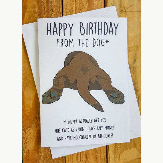 Birthday Card From The Dog Happy Funny