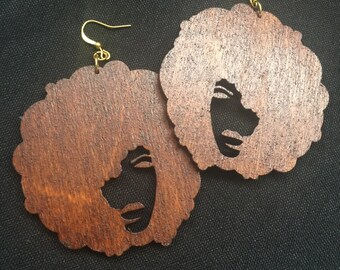 Abstract Afro  Earrings