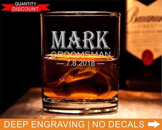Trauzeugen, gravierte Whiskeyglas, Hochzeits-Gläser, benutzerdefinierte  Bourbon Glas, Hochzeitsgeschenk, graviert Trauzeugen, gravierte Gläser
