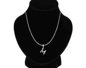 5164b06b840 Letter M Necklace - Personalized Jewelry Gift for Her - Silver Letter M  Initial Necklace Jewelry