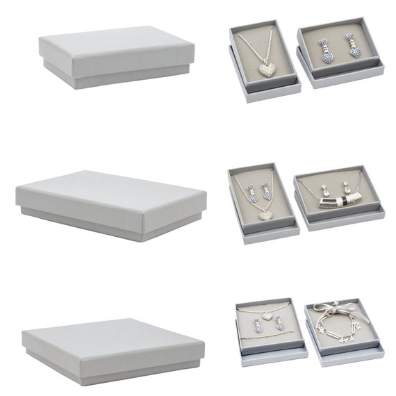 Grey Kraft Jewellery Boxes With Lid Jewelry Box For Earrings Etsy