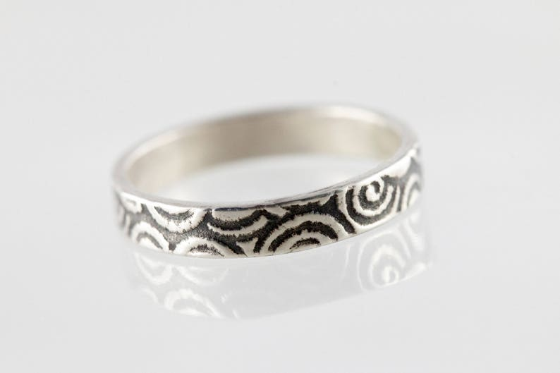 3 Modern band ring  stacking ring No.