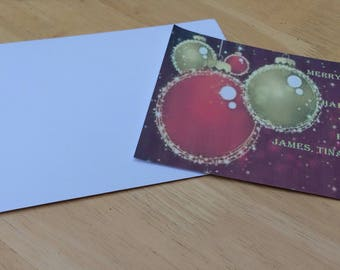 10 personalised Christmas Cards