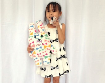 Cotton Bow Print Dress