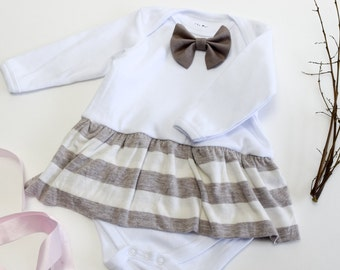 Chocolate Milk Skirt Keepsake Bodysuit Embroidery Name