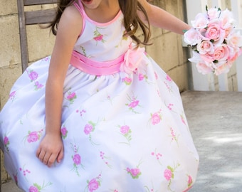 Pink Rose Heaven Dress, Special Occasion, Party, Wedding, Flower Girl