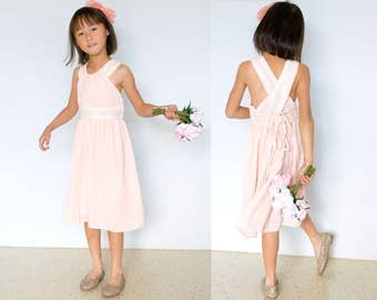 Dazzling Blush Pink Sequin Chiffon Dress