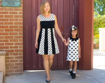 Polka Dots Retro Vintage Mod Dress Women