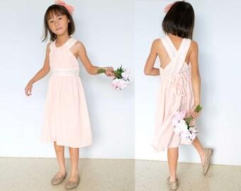 Dazzling Blush Pink Sequin Chiffon Dress