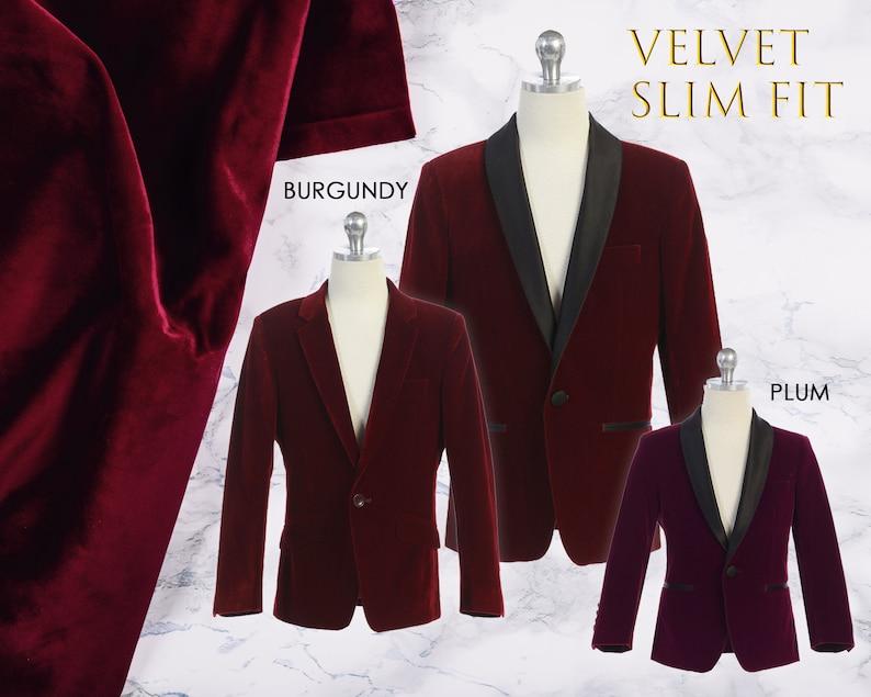 435fd1460 Little to Big Boy Slim Fit Luxurious Velvet Suit Blazer Coat