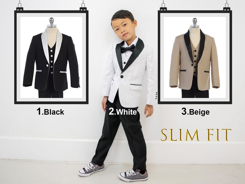 623cf6229 Little to Big Boy Slim Fit Premium 3-Piece Suit Tuxedo