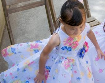 Organza Confetti Flower Dress, Special Occasion, Party, Wedding Flower Girl