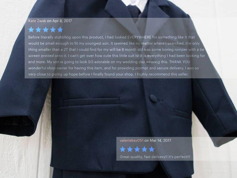 8165c112d Baby to Little Boy 5-Piece Regular Suit Black Navy Platinum | Etsy