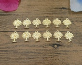 20 Whole Tree Charms,Gold Color-RS798