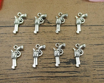 4 Chandelier Connector Charms Silver Tone SC632