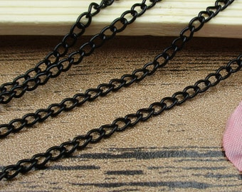 5M Length Cross 0 Chains-2.5x3.5mm,Chain for Jewelry Making, Bulk Chain, Necklace Chain, Black Chain-CS017