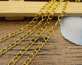 5M Length Chains-5x3mm,Chain for Jewelry Making,Bulk Chains,Necklace Chain,Gold Color-CS025