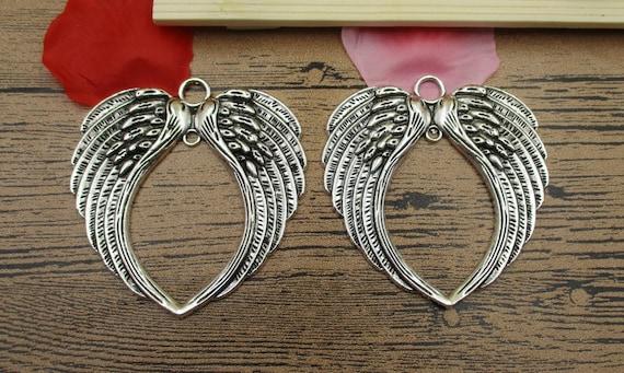 14 tono De Bronce Antigua encantos de ala de ángel BC266