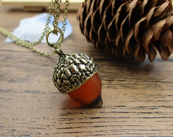 Finished Pine Cone Necklace  Autumn Woodland Lovers Gift-RS817