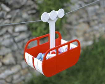 Cable Car Clothespin Carrier