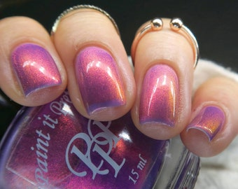GOLDEN DAYS, pink indie nail polish lacquer by Paint it Pretty Polish
