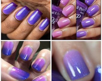 CELEBRATE WITH ME, pink blue purple thermal indie nail polish by Paint it Pretty Polish