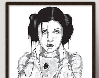 Princess Leia Art Print - Star Wars Poster - Limited Signed By Artist