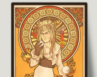 Jim Henson's Labyrinth Art Print, David Bowie Is Jareth, Limited Edition, Signed By Artist