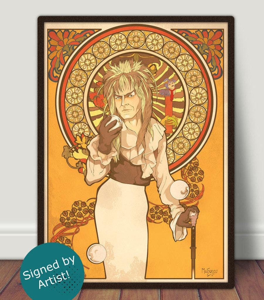 Jim Henson\'s Labyrinth Art Print David Bowie Is Jareth | Etsy