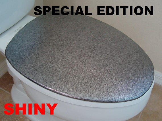 Shiny Fabric Cover for a Lid TANK toilet Red Bright Color HandMade in USA