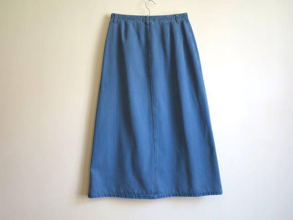 cheap for discount bf235 c9d3d Blauer Rock Jeans Rock lang Jeans Rock Maxi Jeans Rock Linie Rock mittlerer  Größe