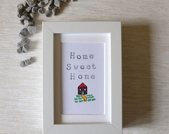 Home Sweet Home. Super cute little house warming gift!