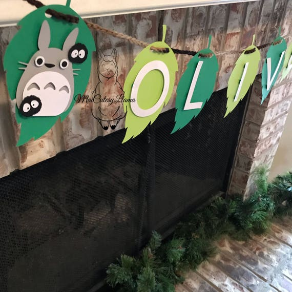 Perosnalized Name banner-Totoro-baby