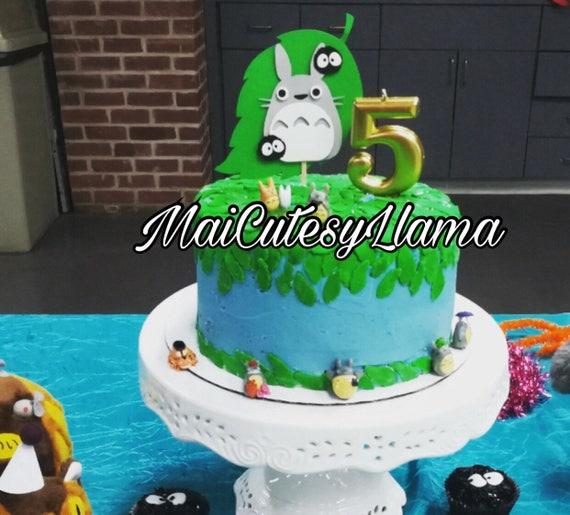 Prime Totoro Cake Topper Center Piece Decoration Totoro Birthday Etsy Funny Birthday Cards Online Aeocydamsfinfo