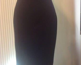 Crayon bleu marine jupe taille 10