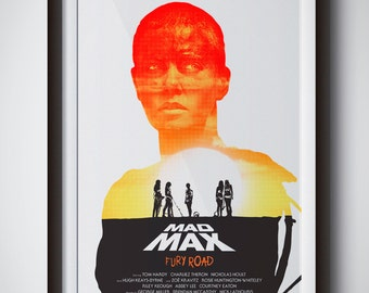 """Mad Max Fury Road Furiosa poster silkscreen print - 13x19"""" - Limited Edition / Signed / Numbered"""