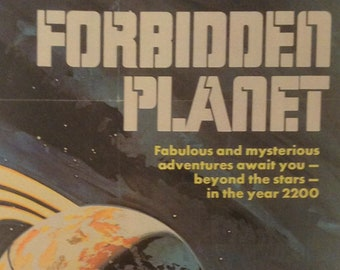 Forbidden Planet 1 Vintage Movie Poster Print Reproduction