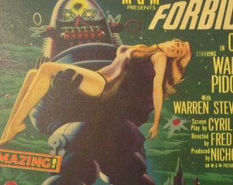 Forbidden Planet Vintage Movie Poster Print Reproduction