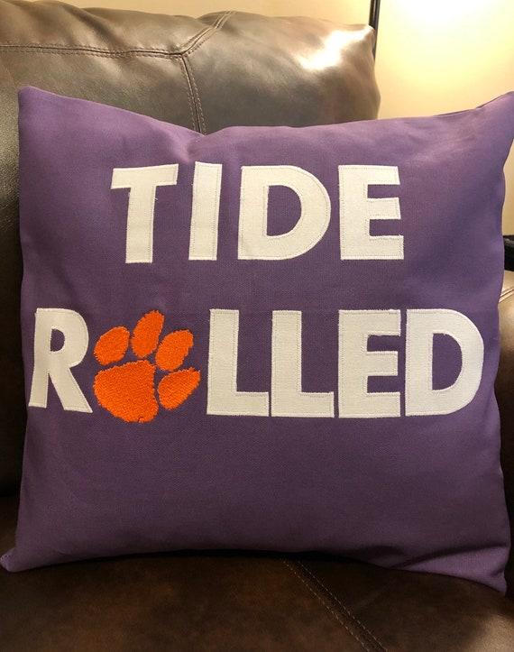 Pleasing Clemson Tigers Pillow Cover Tide Rolled 16 X 16 Decorative Pillow Cover Throw Pillow Dorm Pillow Couch Pillow Tailgate Gear Machost Co Dining Chair Design Ideas Machostcouk