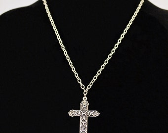 Pirates in Paris Scroll Cross Necklace