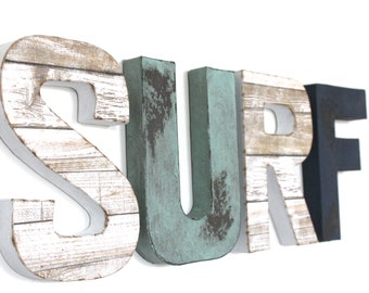 Surf Sign | Surf Decor | Surf Room Decor | Teen Boy Room Decor | Beach  House Decor | Beach House Signs | Boy Surf Art | Rustic Beach Decor