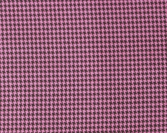 Houndstooth Sophie by Chez Moi for Moda - Pink Brown - LAST 3/4 Yard