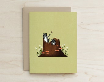 Raccoon Buddies Card
