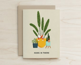 Hang In There Card, Cat Card, Cat Humor, Funny Card