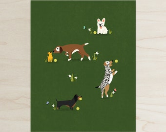Find your Happy Place Dog Print, 8x10 Print, Dog Park Print,