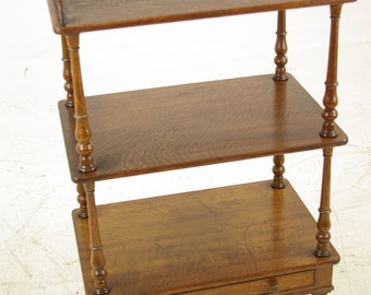 Etagere, Antique Oak What Not, Victorian, Scotland 1880, Antique Furniture,  B1072A REDUCED!!